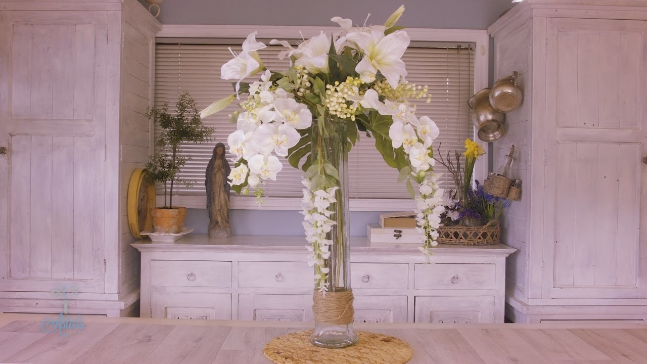 Wisteria, Lily and Orchid Floristry Arrangement