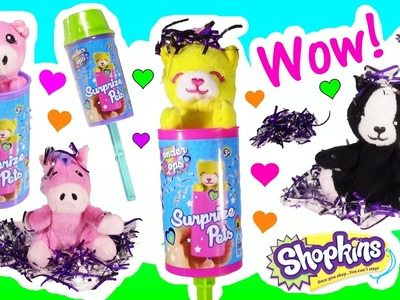 Wonder POPS SURPRIZE Pets! Amazing Confetti & Stuffed Pet! Dory LIP Balm! SHOPKINS! Blind Bags! FUN