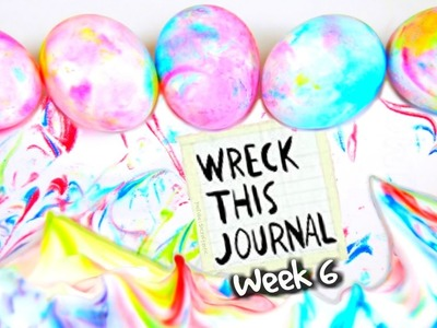 WRECK THIS JOURNAL 6 : SHAVING CREAM EASTER EGGS, Darts, & Cupcake - SoCraftastic