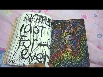 Wreck This Journal pages and ideas.
