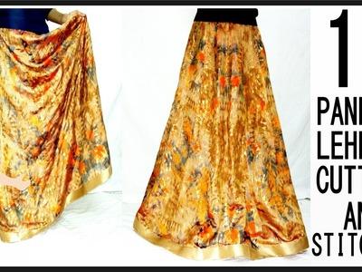 16 Paneled Lehenga Marking, Drafting, Cutting And Stitching | DIY - Tailoring With Usha