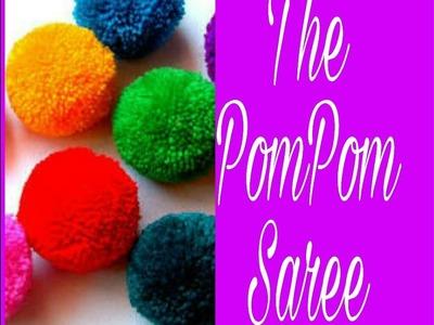 #37 How To Design Saree-9 || PomPom Saree