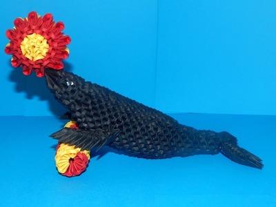 3D Origami seal tutorial | DIY paper seal part1