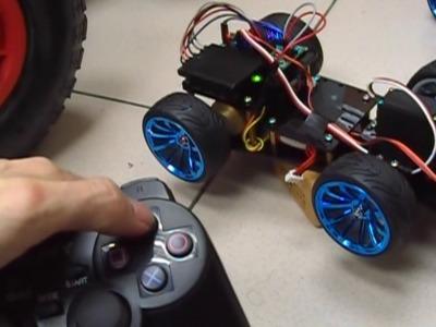 A Cheap DIY RF Controlled Arduino Car with a Gripper (帶前夾之自製Arduino遙控車)