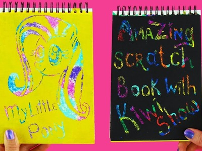 Amazing Scratch Book DIY for Kids | My Little Pony Drawing | Galaxy Color Page