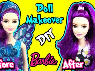 Barbie Doll Makeover - DIY Custom Doll with Changeable Hairstyle - Making Kids Toys