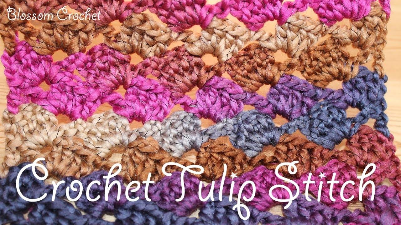Beautiful Crochet Tulip Stitch - blankets. scarf etc