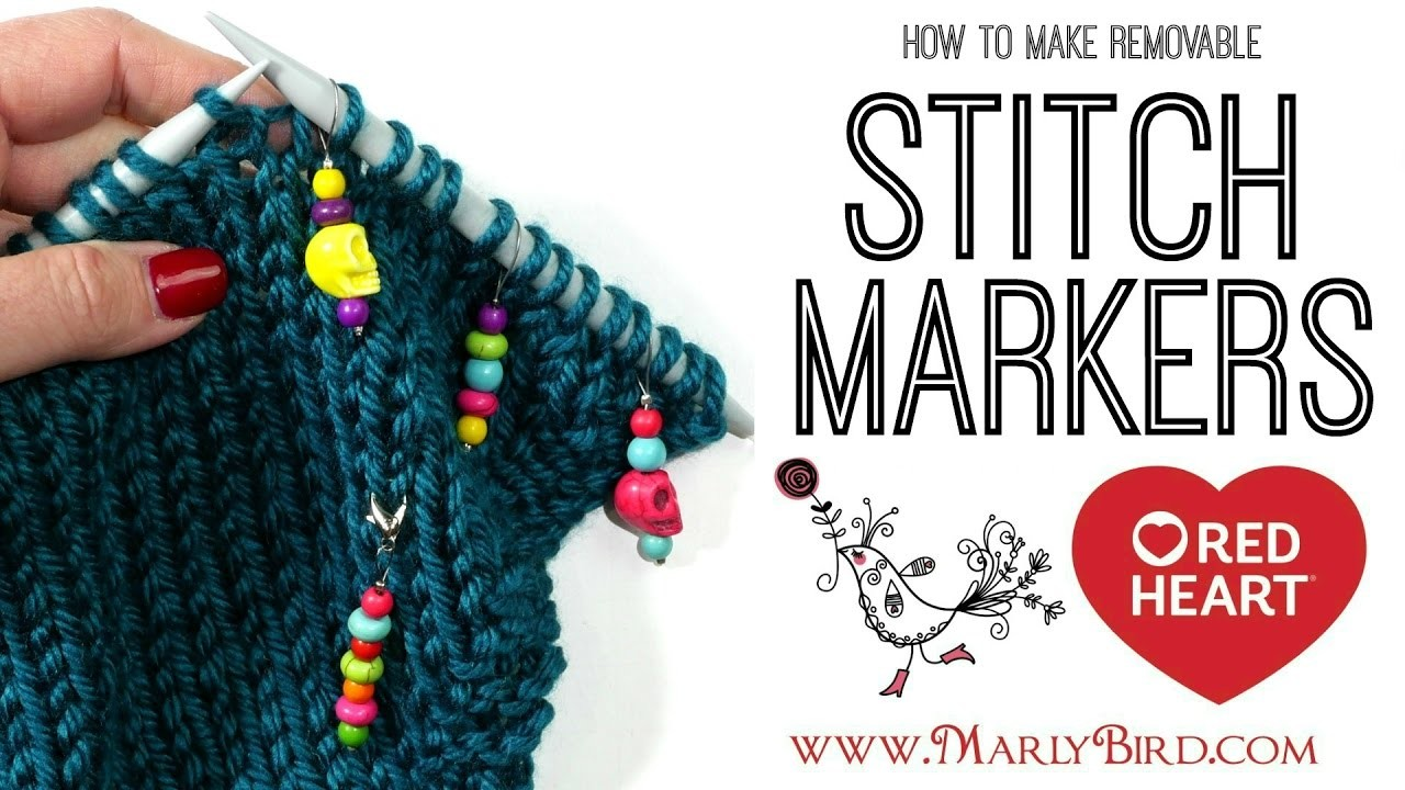 Beginner Basics Knitting and Crochet DIY Removable Stitch Markers for Knitting or Crochet