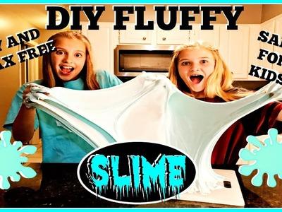 BIGGEST FLUFFY SLIME EVER: DIY EASY SAFE GIANT STRETCHY SLIME!