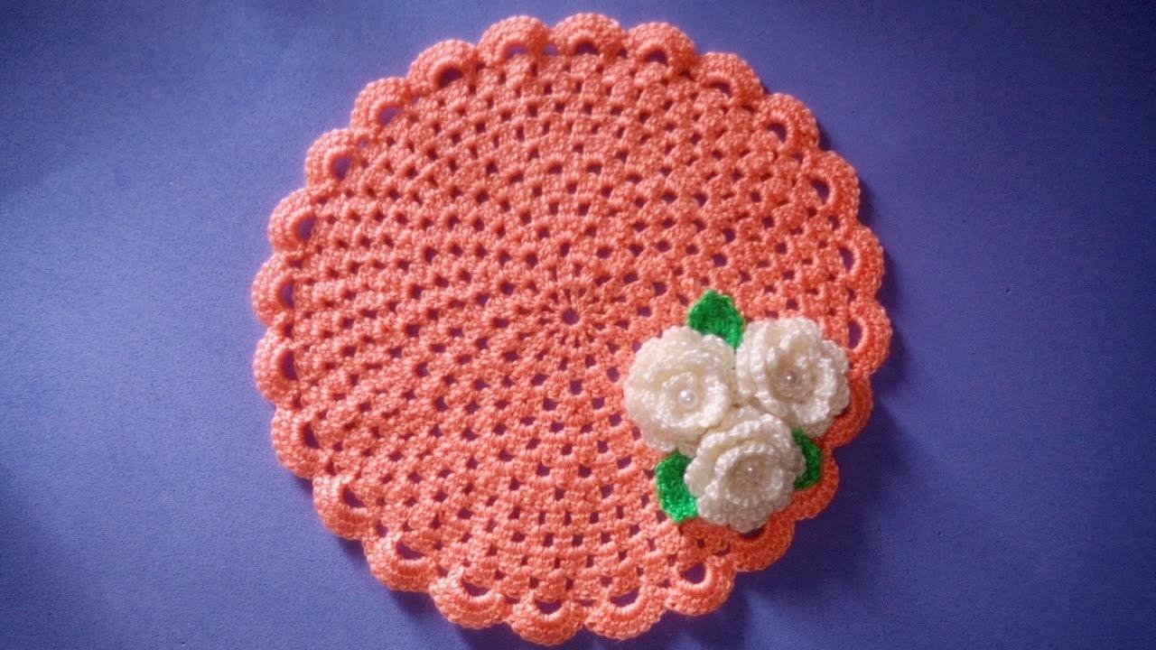 Centrino Uncinetto Facile Tutorial Doily Crochet Sousplat Croche