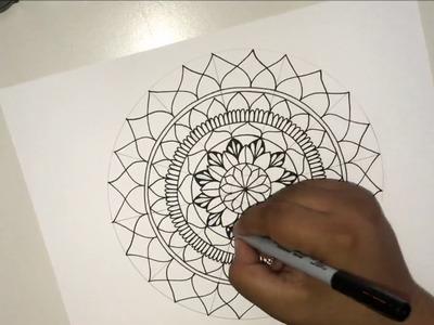 Como hacer mandalas: Formas basicas para principiantes | How to make Mandalas Basic Shapes
