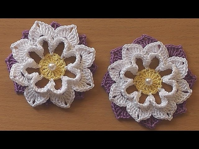 Crochet Flower VERY EASY Tutorial #3, My Crafts and DIY ...