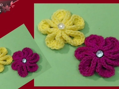 Crochet Kanzashi flower - tutorial in english step by step