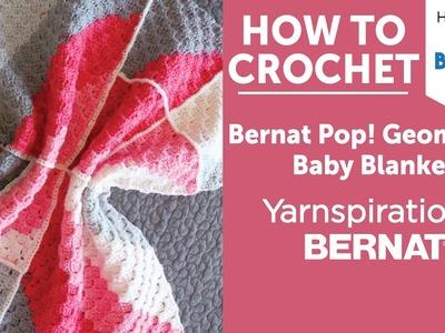 Crochet Pop Geometric Baby Blanket