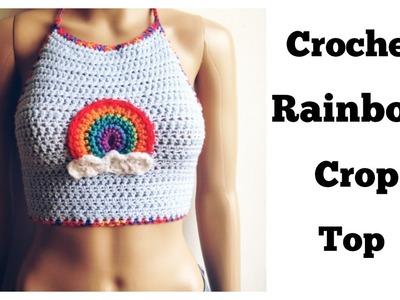Crochet Rainbow Crop Top Tutorial