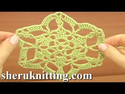 Crochet Round Motif Tutorial 26 Part 1 of 2