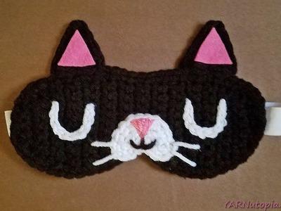 Crochet Tutorial: Feline Rested Sleep Mask