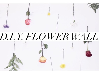 ????  D.I.Y. Flower Wall Tutorial ???? . Super easy and affordable!