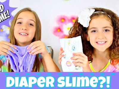 DIAPER SLIME?!  HOW TO MAKE THIS WEIRD DIY SLIME RECIPE!