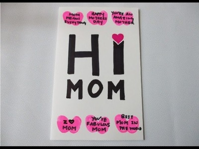 DIY : #180 Easy Last Minute MOTHER'S DAY CARD ❤