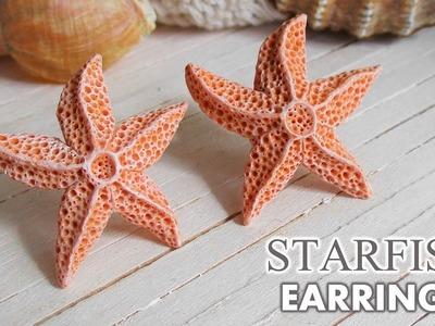 DIY Aquamarine Starfish Earrings Polymer Clay Tutorial.  Maive Ferrando