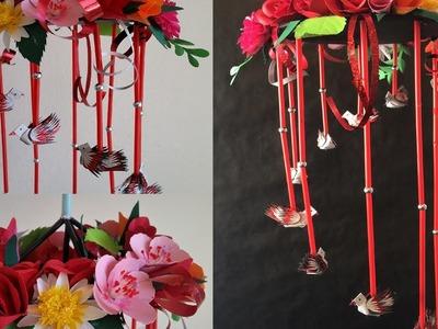 DIY Bird Mobile Hanging : Hanging birds : How to make birds : Baby mobile : Chandelier DIY
