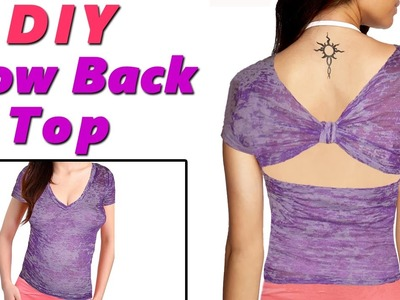 DIY Bow Back Tank Top | Super EASY | NO SEW DIY Bow Back Tank Top
