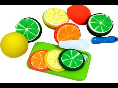 DIY Creative How To Make Citrus Fruits with Play Doh Finger Family Song