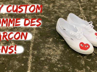 DIY CUSTOM COMME DES GARCON VANS | TUTORIAL!