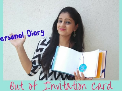 DIY: Diary Tutorial out of Invitation Card