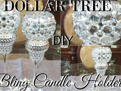 DIY DOLLAR TREE BLING WEDDING CANDLE HOLDERS PETALISBLESS ????