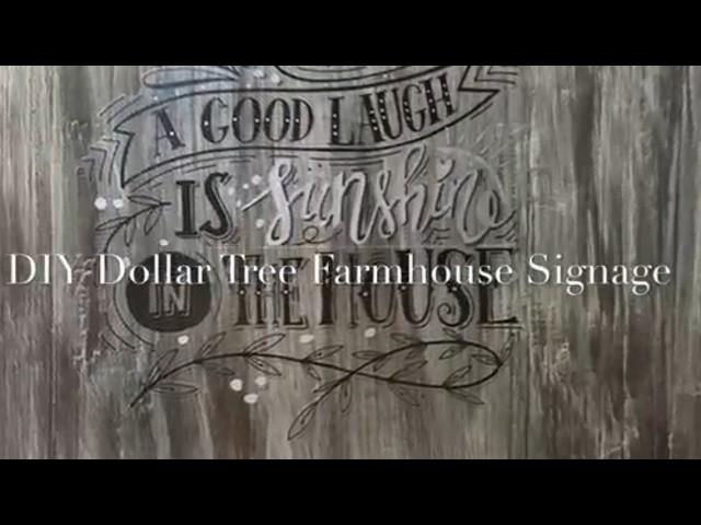 DIY Dollar Tree Farmhouse Signage 2017