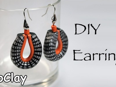 Diy Easy Earrings- Polymer clay tutorial