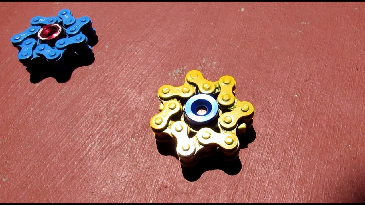 DIY fidget spinner - How to make a Star Chain Spinner - hand spinner tutorial