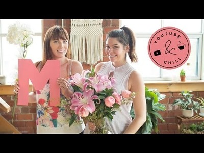 DIY FLORAL LETTER FOR MOTHER'S DAY | YOUTUBE & CHILL