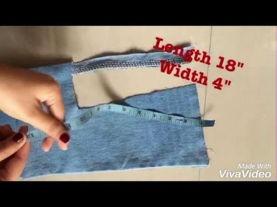 DIY How to make a dungaree dress from men's jeans. denim dungaree dress