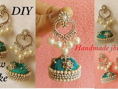DIY || how to make designer jhumka earrings at home || Silk Thread Chandbali Earrings Tutorial