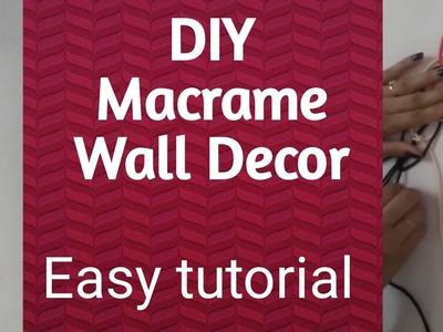 DIY- How to make macrame Wall Hanging-Wall decor- Door hanging tutorial