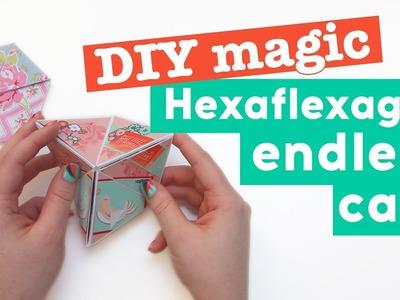 DIY magic Hexaflexagon endless card