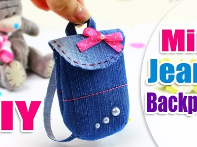 DIY Mini Jeans Backpack Tutorial for Doll & Toys