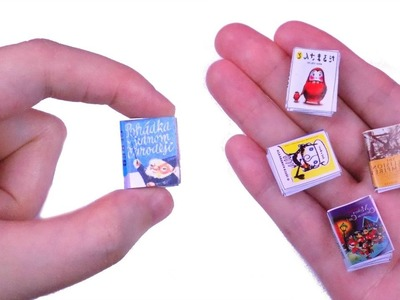 DIY Miniature Books ???? How to Make LPS Crafts, Doll Stuff & Miniature Dollhouse Things