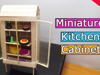 DIY Miniature Kitchen Cabinet | Popsicle Stick Crafts
