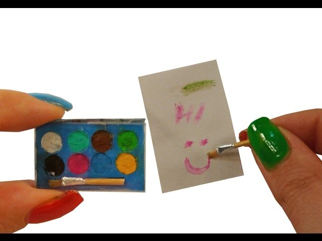 DIY Miniature ✫Watercolors✫ *really work* for Dollhouse TUTORIAL – Crafts