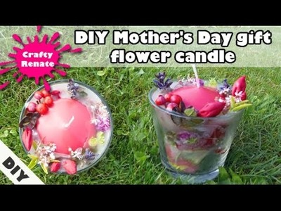 DIY Mother's Day gift - scented flower candle