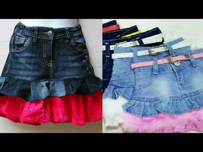 DIY Old jeans to skirt| how to make skirt from old jeans easy tutorial