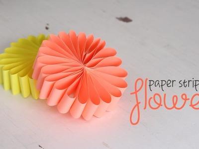 DIY: Paper Strips Flower