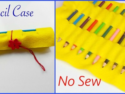 DIY Pencil Case  Tutorial | How To Make Pencil Case No Sew Using Felt | DIY Gifts | Back To School