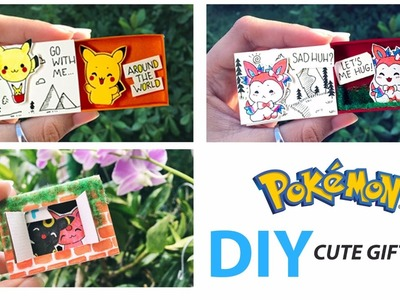 DIY | Pokemon Style | How To Make Cute Gift Box - Step by Step