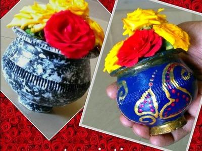 DIY Pot painting | step by step tutorial
