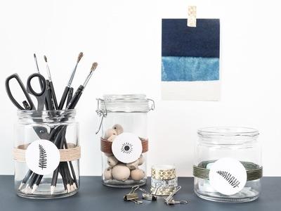 DIY : Storage jars with dainty details by Søstrene Grene
